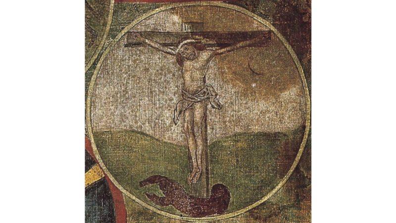 Kreuzigungsmedaillon aus dem Betrachtungsbild von Bruder Klaus, Original im Besitz der Pfarrei Sachseln. (© www.bruderklaus.com)