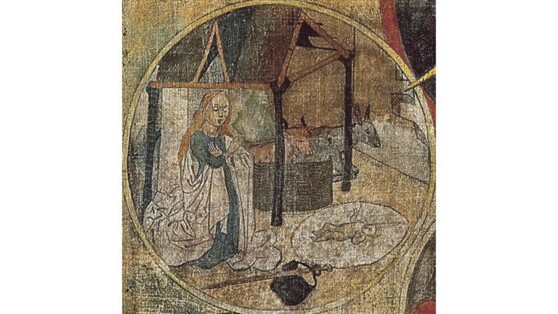 Medaillon der Geburt Christi aus dem Betrachtungsbild von Bruder Klaus. (Foto: www.bruderklaus.com)