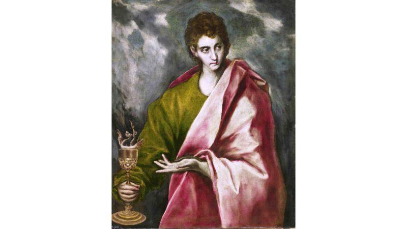 Der hl. Johannes und der Kelch, Gemälde von El Greco um 1650. (Foto: public domain)