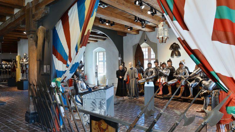 Die Inszenierung der Stanser Tagsatzung im Museum Altes Zeughaus in Solothurn. (Foto: Nicole Hänni, MAZ, 2016)