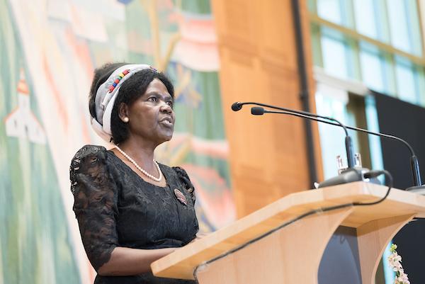 Agnes Abuom aus der Anglikanschen Kirche von Kenia. Foto: Albin Hillert/WCC