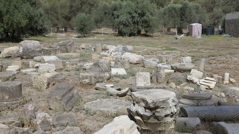 «Heidnische» Tempelruinen in Gortys/Kreta – wo Zeus sich mit Europa vergnügte ... © Walter Ludin