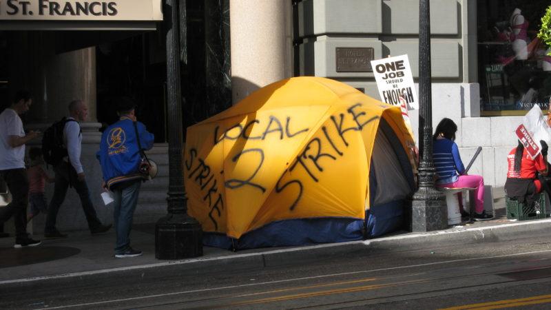 Streik vor Hotel in San Francisco. Foto: Elisabeth Aeberli