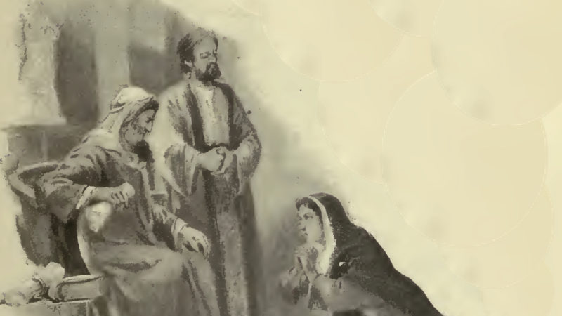 So brav ist die Witwe in der Bibel nicht... Bild: wikimedia commons, public domain