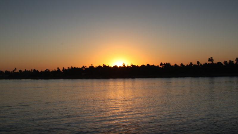 Sonnenuntergang am Nil © Steffi Pelz/pixelio.de