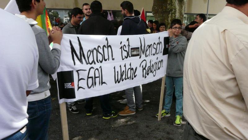 Gleichberechtigung aller Religionen: Demo gegen IS-Terror ©  2014 Sylvia Stam