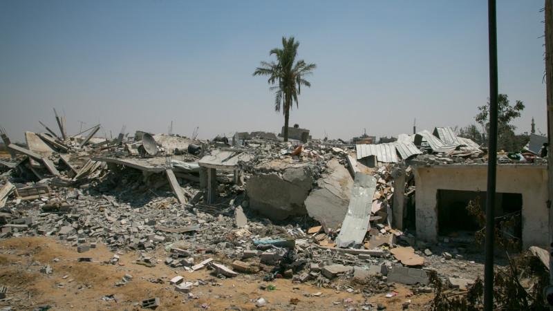 Distrikt Huza'a, Khan Jounis, südlicher Gaza-Streifen, im August 2014 | © 2014 Andrea Krogmann