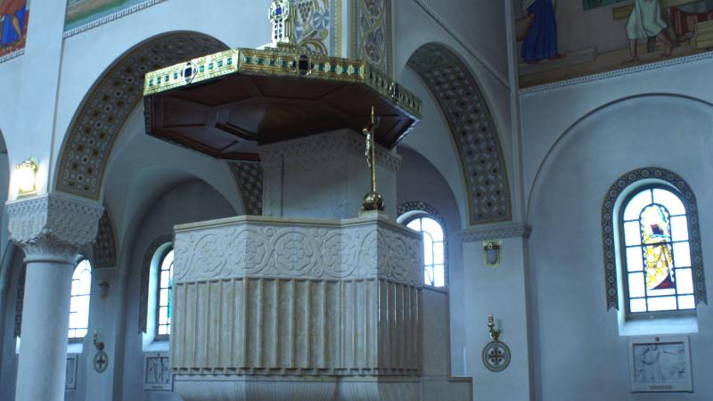 Kanzel in einer katholischen Kirche im Thurgau | © 2008 Barbara Ludwig