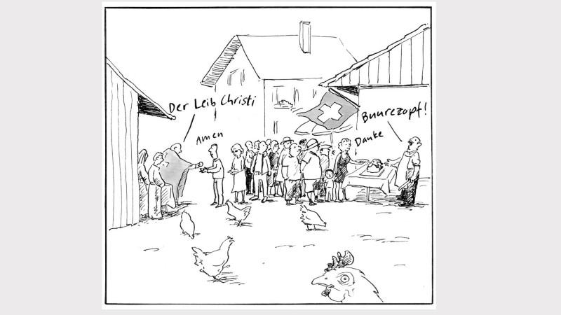 Gottesdienst auf dem Bauernhof | © Monika Zimmermann)