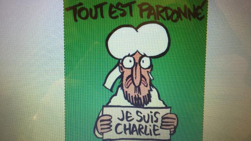 Cover der Satirezeitschrift «Charlie Hebdo» (Ausgabe vom 14. Januar 2015) © 2015 Werner de Schepper