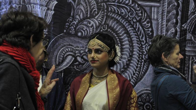 Hindu-Frau im Haus der Religionen Bern   © Vera Rüttimann
