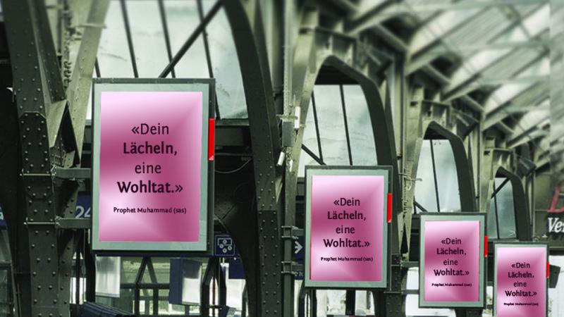 Plakat-Kampagne für Mohammed in Österreich    © 2015 zVg Edon Podrimsaku