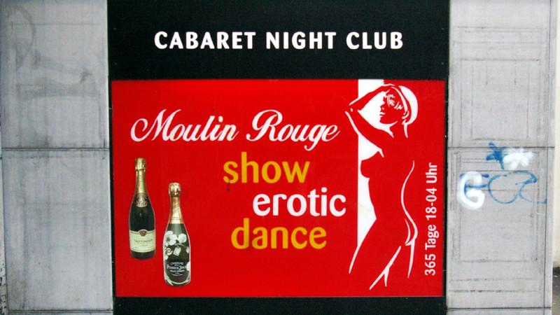 Werbung für Nightclub im Zürcher Niederdorf   © Georges Scherrer