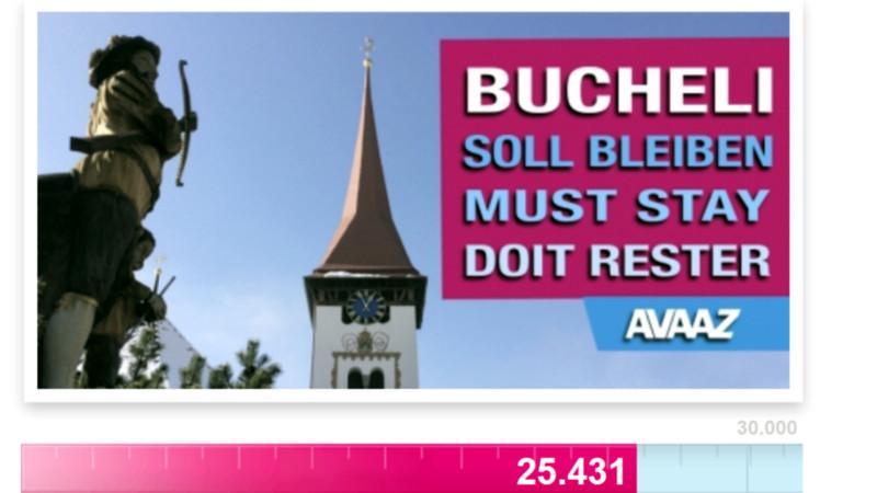 Internet-Petition für Pfarrer Wendelin Bucheli | © screenshot 2015 avaaz.org