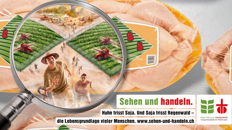 Sujet der ökumenischen Kampagne 2015: das Huhn – 2016: das Gold | © 2015 sehen-und-handeln.ch