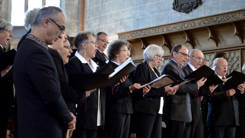 Cantus Birsfelden: katholischer Chor singt in reformierter Theodorskirche am Cantarsfestival in Basel| © 2015 Regula Pfeifer