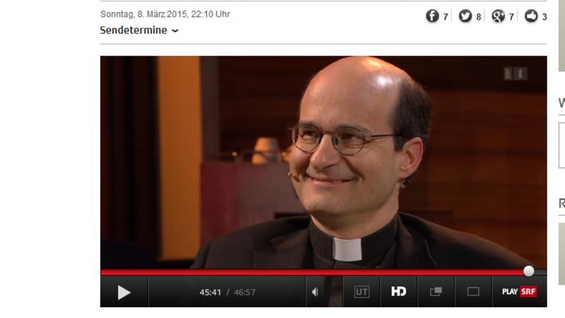 Martin Grichiting, Generalvikar des Bistums Chur, bei «Giacobbo/Müller» | Printscreen srf.ch 9. März 2015