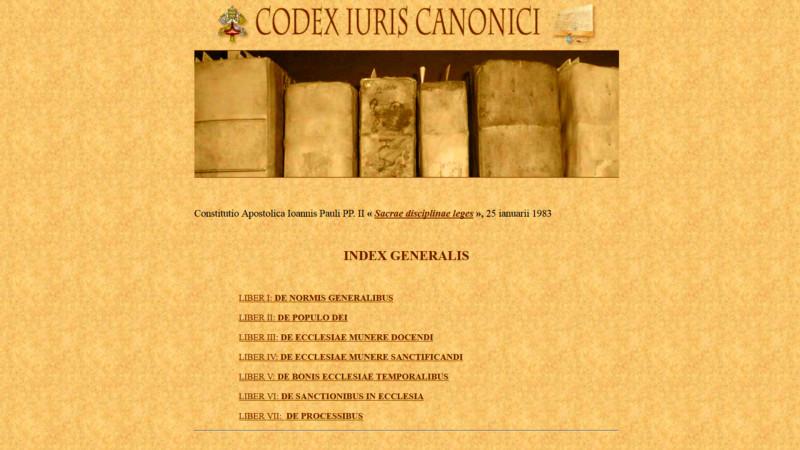 Das kanonische Recht online | © 2015 www.vatican.va/latin/latin_codex.html