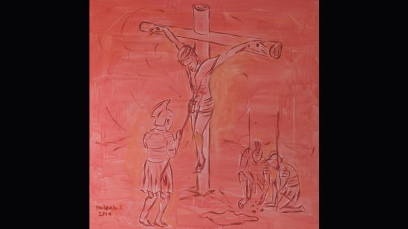 5 Kreuzwegstation «Jesus stirbt am Kreuz» Haileab Kebreab   © 2015 Linus Oberholzer