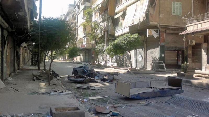 Verwüstete Strasse in Aleppos Christenviertel | © CSI