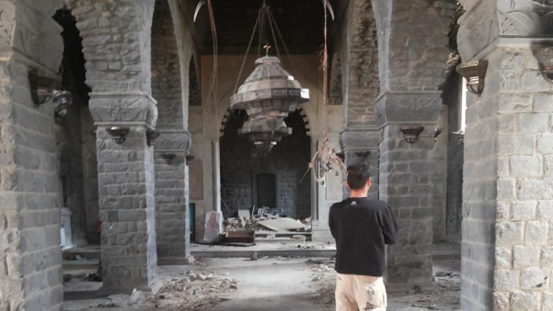 Zerstörte Kirche in Syrien | © Kirche in Not