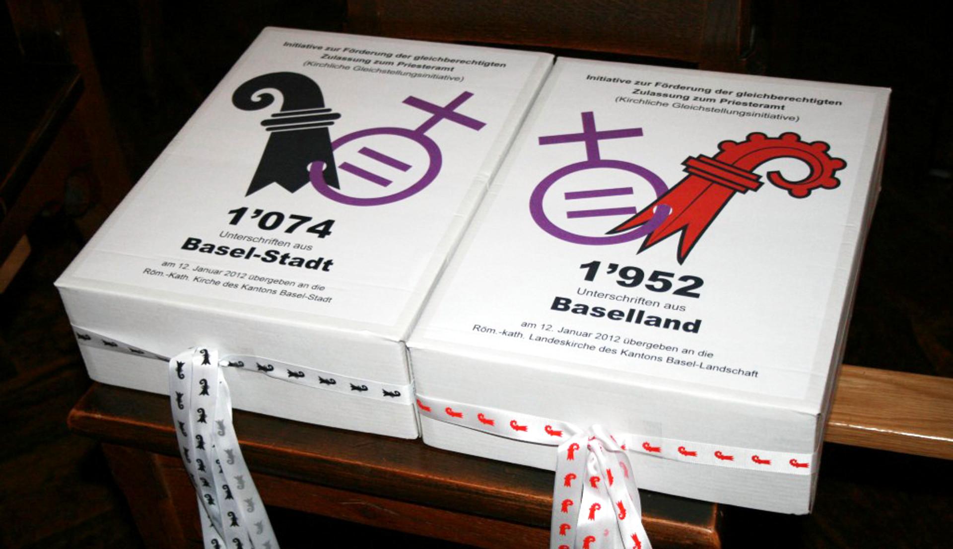 """""""Kirchliche Gleichstellungsinitiative"""" in den Kantonen Basel-Stadt und Basel-Land"""