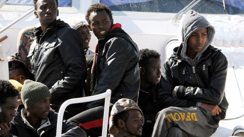 Gerettete Bootsflüchtlinge in Italien | © KEYSTONE Alessandro Fucarini