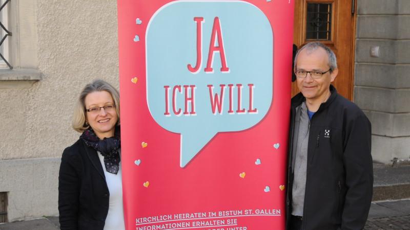 Madeleine Winterhalter und Matthias Koller Filliger vom Projekt «Ja, ich will» | © 2015 Sabine Rüthemann