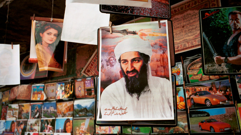 Osama bin Laden-Bild in einem Laden in Pakistan | © 2015 Keystone / Joseph Rodrigez