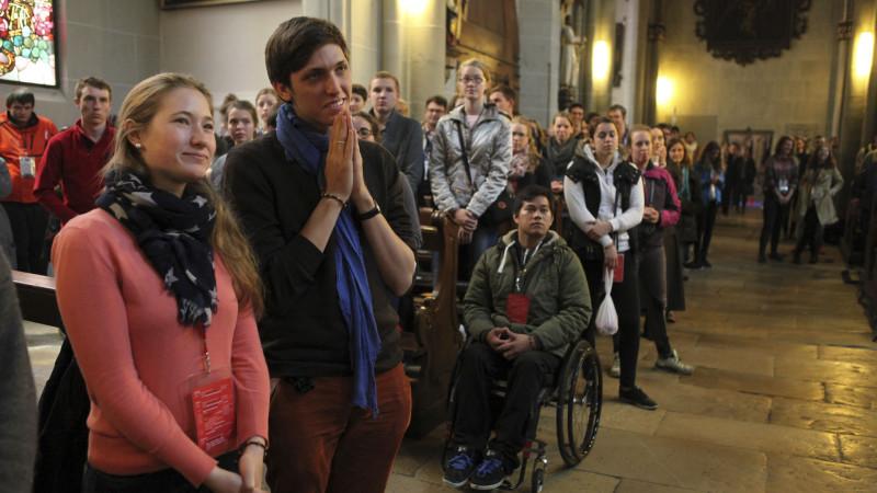 Impressionen vom Schweizer Weltjugendtag in Freiburg im Jahr 2015 | © Bernard Hallet