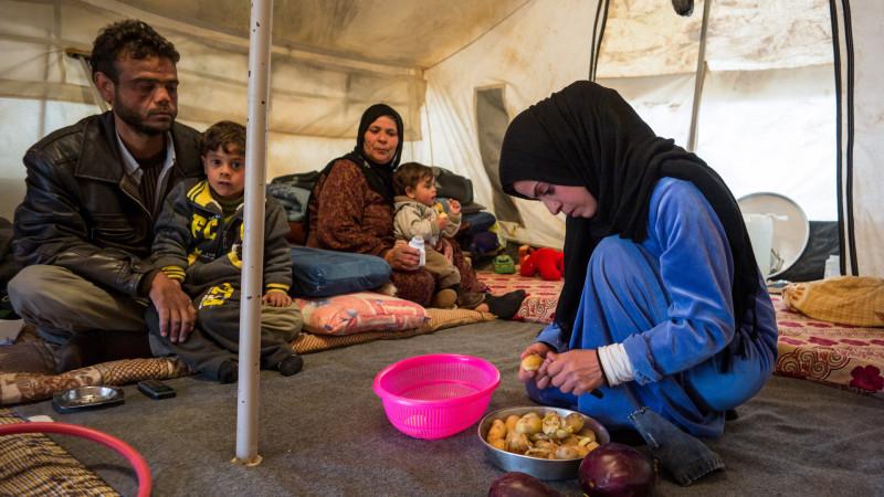 Syrische Familie in Jordanien |  © Alexandra Wey, Caritas Schweiz