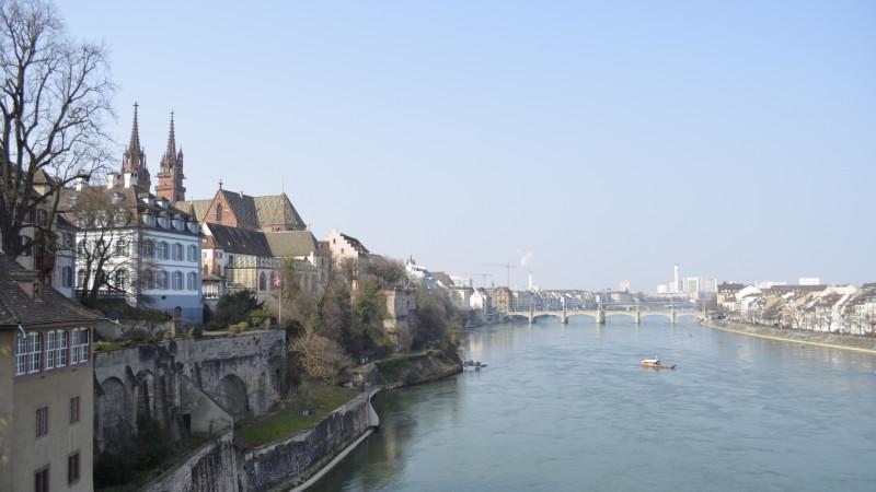Basel am Rhein mit Münster | © Regula Pfeifer