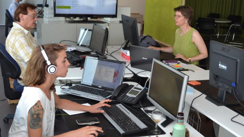 Der Newsroom von kath.ch | © 2015 Martin Spilker