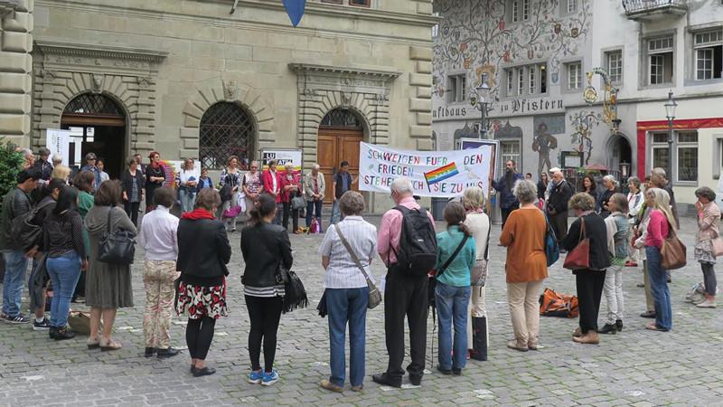 Schweigen für den Frieden, Juni 2015 | © zVg