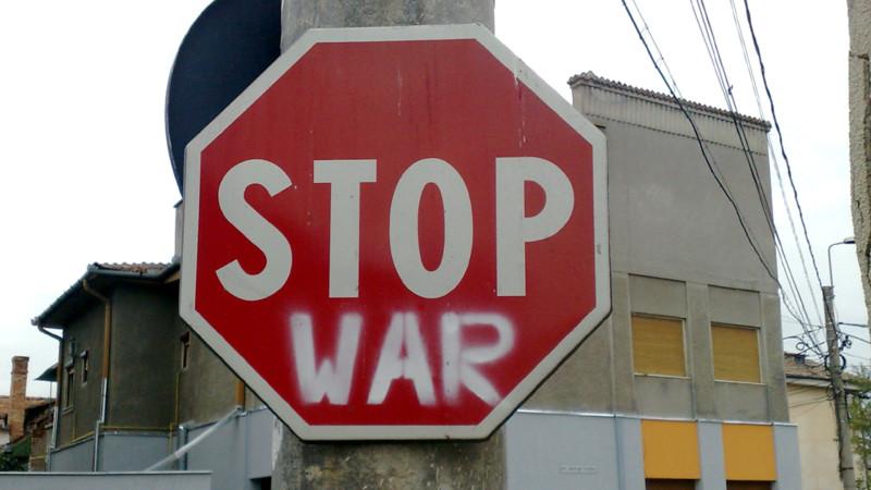 Protest gegen Krieg und Gewalt | © Georges Scherrer