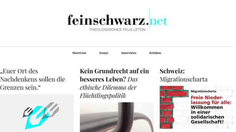 Neu im Internet: feinschwarz.net | © 2015 sceenshot