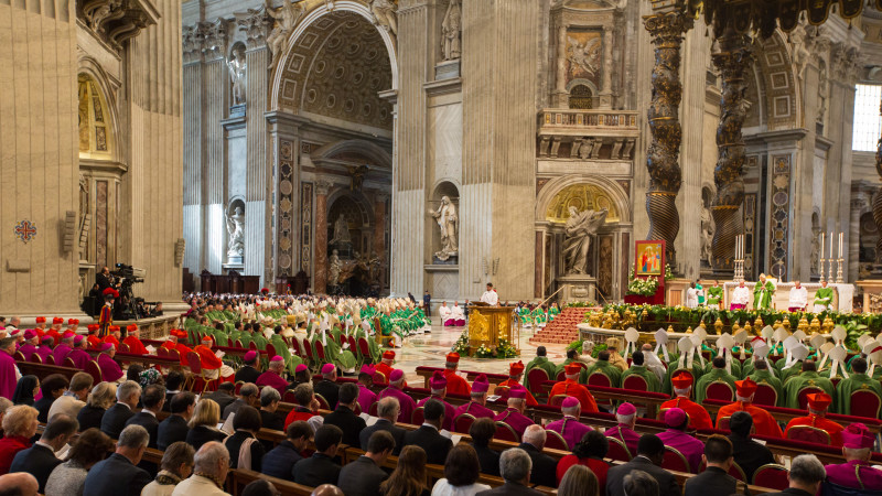 Messe zum Abschluss der Bischofssynode am 25. Oktober 2015 in Rom | © 2015 Andrea Krogmann