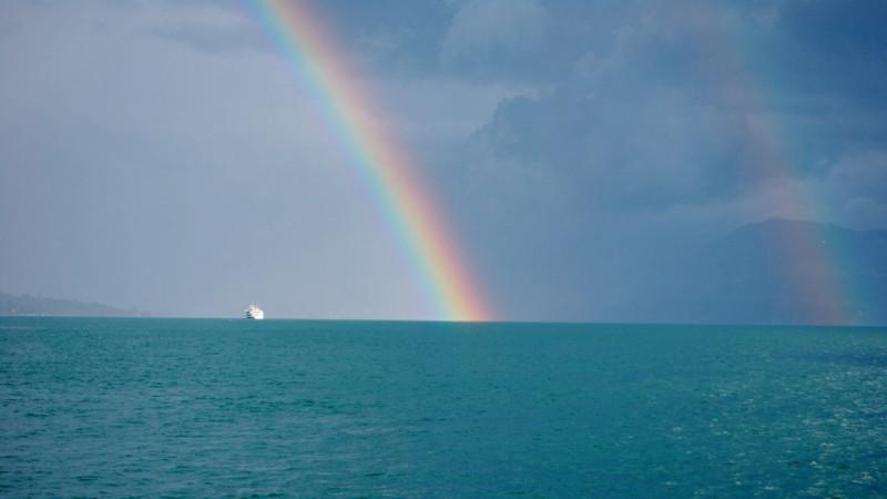 Regenbogen über dem Zürichsee | © 2012 Barbara Ludwig