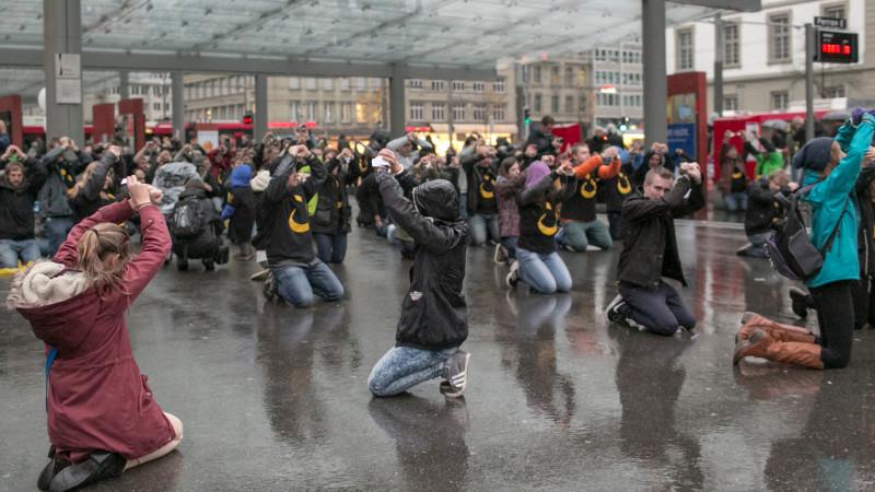 Flashmob für verfolgte Christen in Bern, 2014 | © Verfolgung.jetzt