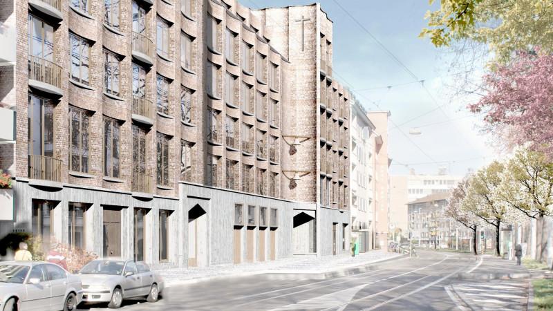Projektierter Neubau St. Christophorus Basel, Visionalisierung | © 2016 zVg