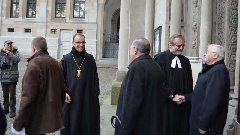 Abt Urban Federer und Pfarrer Christoph Sigrist nach einem ökumenischen Gottesdienst in Zürich | © Regula Pfeifer