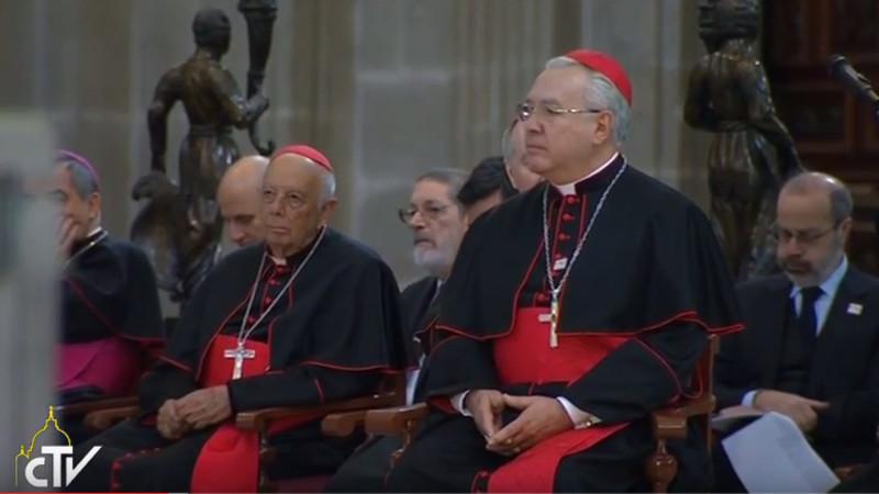 Mexikanische Bischöfe hören Papst Franziskus zu. | © 2016 screenshot Radio Vatikan