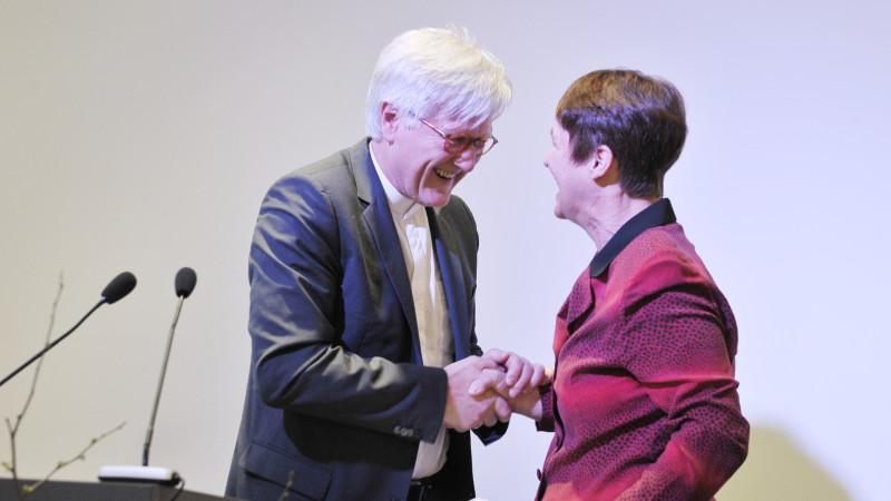 Heinrich Bedford-Strohm (links), Herbert Haag-Preisträger 2016  | © Vera Rüttimann