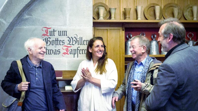 Adolf Muschg, Jaqueline Badran, Klaus Heer, Christoph Sigrist (v.l.)  | © 2016 Natalie_Szathmary