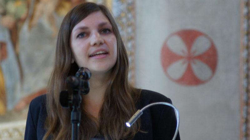 Jacqueline Straub predigt anlässlich des Filmfestivals in Locarno | © Christian Murer