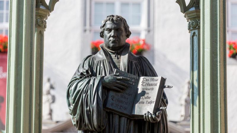 Lutherdenkmal in Wittenberg  | © kna