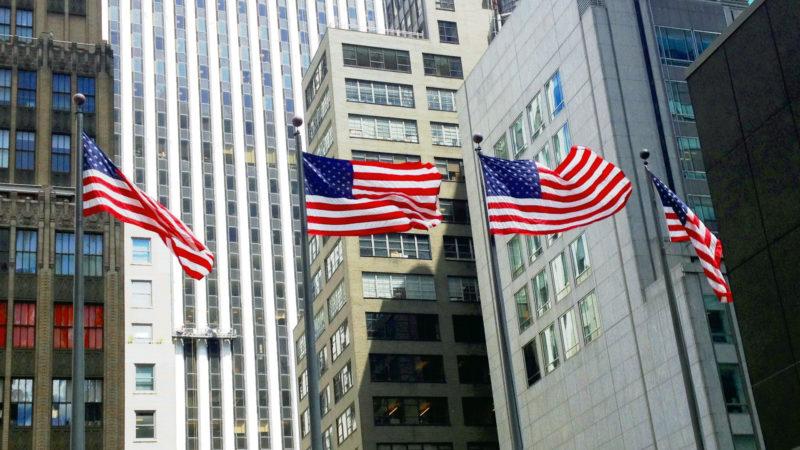 US-Flaggen in Manhatten Trump | © Georges Scherrer