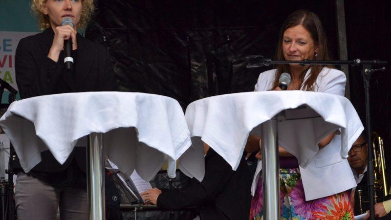 Zukunft.ch-Geschäftsführerin Beatrice Gall-Vollrath betet für die Sünden | ©  Francesca Trento