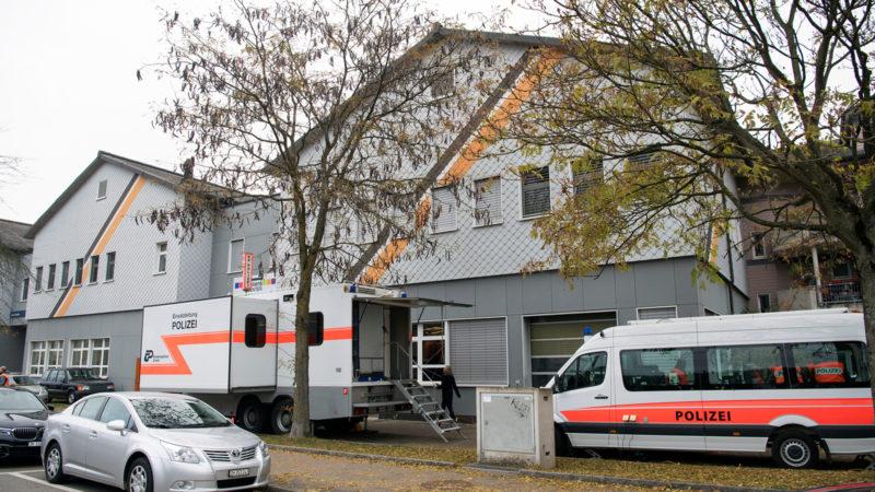 Polizeirazzia in der An'Nur-Moschee Winterthur, 2.11.16 | © Keystone/Walter Bieri