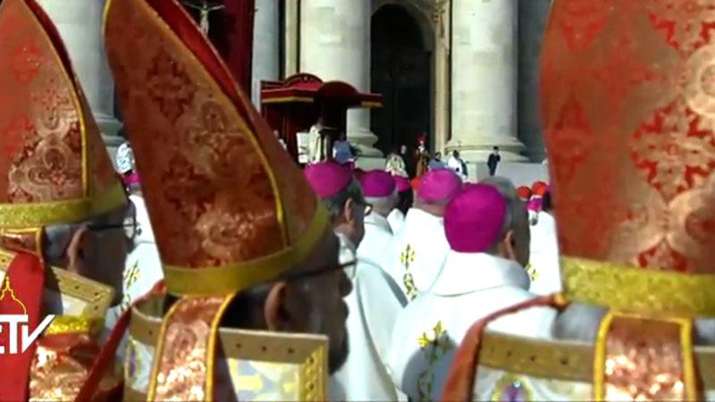 Bischöfe an der Messe zum Abschluss des Jahres der Barmherzigkeit.   © screenshot Radio Vatikan